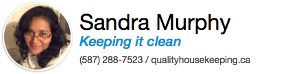 Sandra's email signature